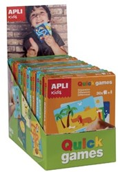 Apli Kids reisspelletjes, display met 12 spelletjes