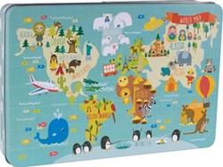 Apli Kids puzzel met 24 stukken, wereldkaart