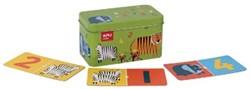 Apli Kids dominospel dieren, metalen doos met 36 stuks
