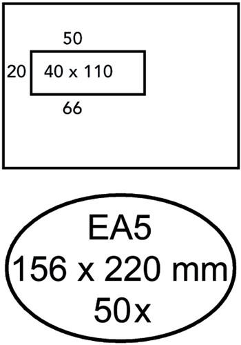 ENVELOP HERMES VENSTER EA5 VL ZK 80GR 50ST 50 Stuk