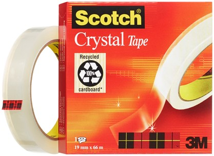 PLAKBAND 3M SCOTCH 600 19MMX66M CRYSTAL CLEAR 1 Stuk