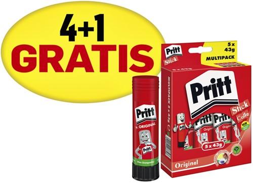 LIJMSTIFT PRITT PK312 43GR PROMOPACK 4+1 GRATIS 5 Stuk