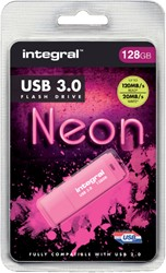 USB-STICK INTEGRAL 128GB 3.0 NEON ROZE 1 STUK