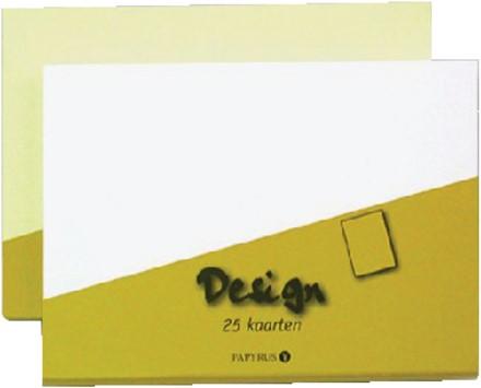 KAART DUBBEL PAPYRUS DESIGN 105X148MM IVOOR 15 KRT