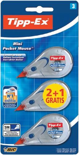 CORRECTIETAPE TIPP-EX POCKET MINI MOUSE 5MM 3 Stuk