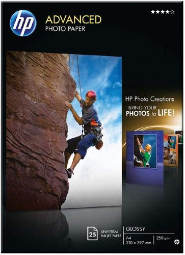 FOTOPAPIER HP Q5456A A4 250GR GLANS 25 Vel
