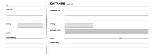 KWITANTIEBLOK EXPRES 105X297MM 100V 1 Stuk