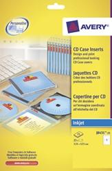CD INLEGKAART AVERY J8431-25 121X242MM 165GR 25 VEL