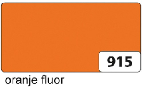 ETALAGEKARTON FOLIA 48X68CM 380GR NR915 FL ORANJE 1 Stuk