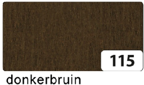 CREPEPAPIER FOLIA 250X50CM NR115 DONKERBRUIN 1 Stuk