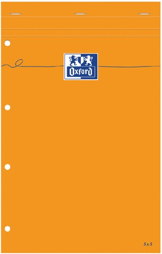 SCHRIJFBLOK OXFORD EVERYDAY A4+ RUIT 5MM 80VEL 1 Stuk