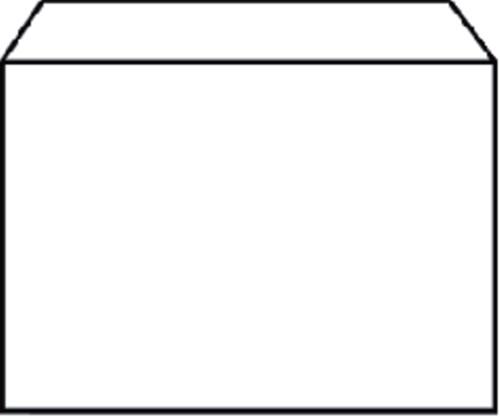 ENVELOP QUANTORE BANK C6 114X162 80GR WIT 25 STUK