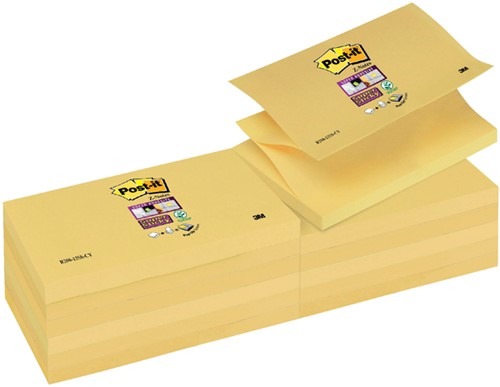 MEMOBLOK 3M POST-IT Z-NOTE S350 STICKY GEEL 90 Vel