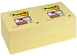 MEMOBLOK 3M POST-IT 654 76X76MM SS GEEL 90 VEL