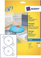 ETIKET AVERY CD C9660-8 HOOGGLANS 16ST 8 VEL-2
