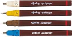 TEKENPEN ROTRING 155035 RAPIDOGRAPH 0.35MM GEEL 1 STUK