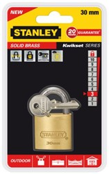 HANGSLOT STANLEY MESSING 30MM 1 STUK