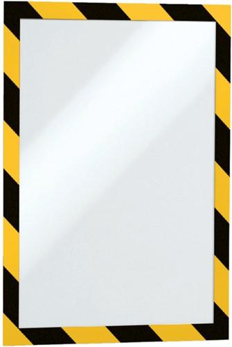 DURAFRAME SECURITY DURABLE A4 ZELFKL GEEL/ZWART 2 STUK