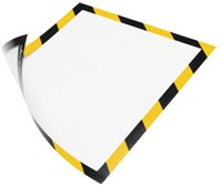 DURAFRAME SECURITY DURABLE A4 MAGNEET GEEL/ZWART 5 STUK-1