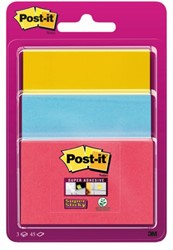 MEMOBLOK 3M POST-IT 3432 SUPER STICKY ASS 3 STUK