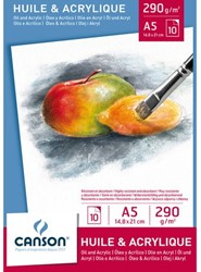 OLIE-ACRYLBLOK CANSON A5 10V 290GR 10 VEL