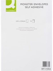 ENVELOP Q-CONNECT MONSTER 229X324X38 130GR ZK WIT 10 STUK