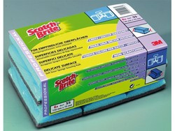 SPONS 3M SCOTCH BRITE CASH&CARRY SYNTHETISCH BLAUW 6 STUK