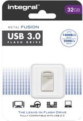 USB-STICK INTEGRAL FD 32GB METAL FUSION 3.0 1 STUK