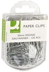 PAPERCLIP Q-CONNECT 30MM GEGALV 125 STUK