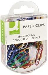 PAPERCLIP Q-CONNECT 28MM ASS 100 STUK