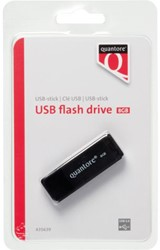USB-STICK QUANTORE 8GB 2.0 ZWART 1 STUK