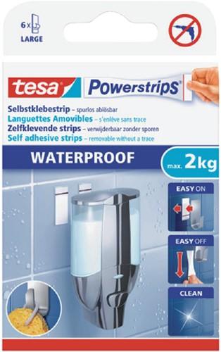 POWERSTRIP TESA WATERPROOF LARGE 6 Stuk
