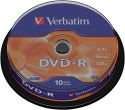 DVD-R VERBATIM 4.7GB 16X 10PK SPINDEL 10 STUK
