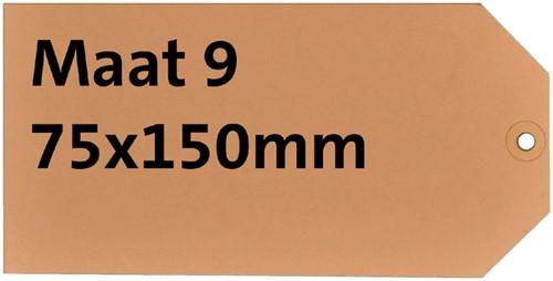 LABEL HF2 NR9 75X150MM KARTON 200GR CHAMOIS 1000 Stuk