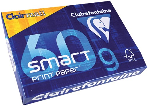 KOPIEERPAPIER CLAIREFONTAINE CLAIRMAIL A4 60GR WT 500 Vel