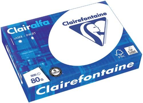 KOPIEERPAPIER CLAIREFONTAINE CLAIRALFA A4 80GR WT 500 Vel