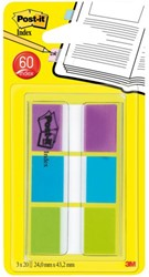INDEXTABS 3M POST-IT 680PBG ASS 3X20 STUK