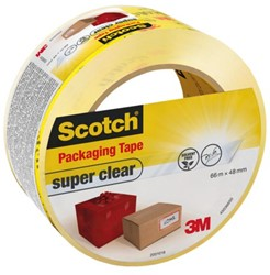 VERPAKKINGSTAPE 3M SCOTCH 48MMX66M SUPER CLEAR 1 STUK