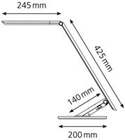 BUREAULAMP HANSA LED EXCELLENCE ZWART 1 STUK-1