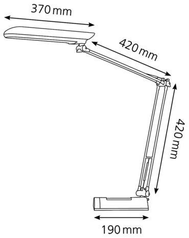 BUREAULAMP HANSA SPAARLAMP ECOLUX ZILVER 1 STUK-2