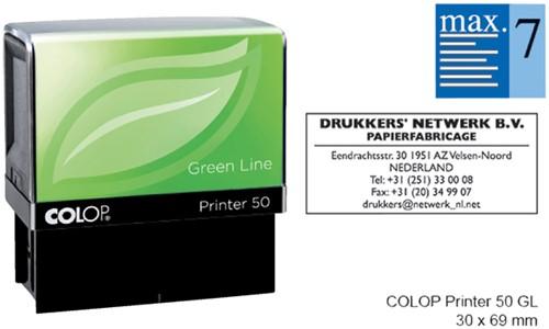 TEKSTSTEMPEL COLOP 50 GREEN BON 7R 69X30MM 1 Stuk
