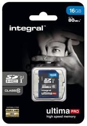 GEHEUGENKAART INTEGRAL SDHC 16GB ULTIMAPRO CL10 1 STUK