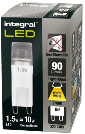 LEDLAMP INTEGRAL G9 1.5W 2700K WARM WIT 1 STUK-3