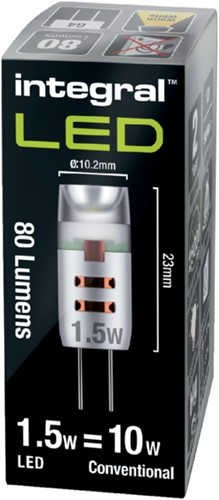 LEDLAMP INTEGRAL G4 12V 1.5W 2700K WARM WIT 1 STUK-2