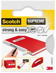 PLAKBAND 3M SCOTCH SUPREME STRONG & EASY 19MMX3M WIT 1 STUK