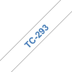 LABELTAPE BROTHER TC-293 9MMX8M WIT/BLAUW 1 STUK
