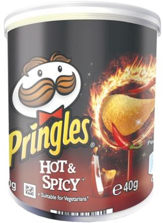 CHIPS PRINGLES HOT&SPICEY 40GR 1 STUK-3