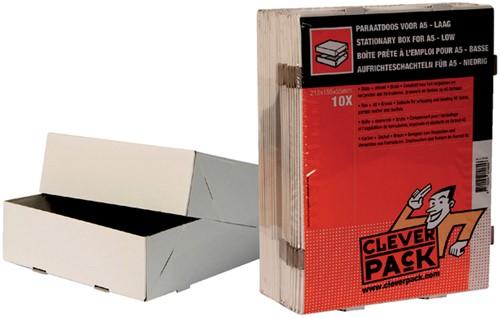 PARAATDOOS CLEVERPACK A5 500V 218X155X55MM WIT 10 Stuk