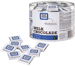 CHOCOLADE FAIRTRADE CARE MELK 170 STUK