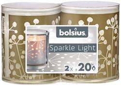 KAARS SPARKEL LIGHT BOLSIUS CRYSTAL 2 STUK